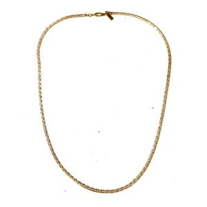 18k gold plated Vintage gold chain necklace